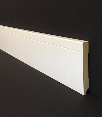 Luxe plint MDF 12x90mm RAL9010